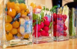 鳩山会館 野菜ディスプレイ